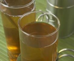Agua de té verde