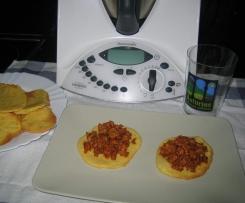 TORTOS DE MAIZ AL HORNO CON PICADILLO