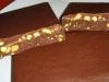 Turron de chocolate con pistachos - clase de navidad -