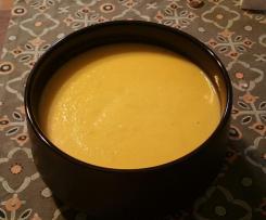Crema de calabacín y coliflor
