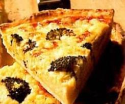 Quiche de brócoli y quesos