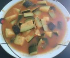 Calabacin en salsa de tomate ( dieta Pronokal)