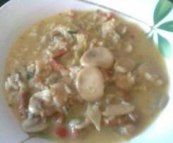 verduritas en salsita con arroz