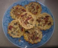 Tartaletas de setas y jamón