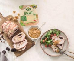 Pechuga de pavo rellena de jamón y queso Arla Havarti