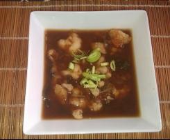 Sopa de miso con coliflor y wakame (sopa invernal macrobiótica)
