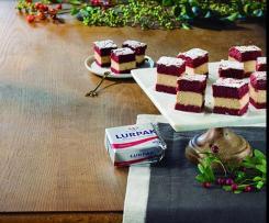 Pastelitos red velvet con mantequilla Lurpak