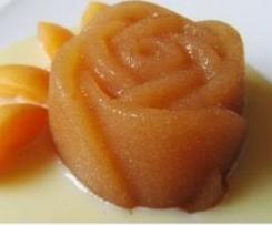 Flan de albaricoque con agar-agar