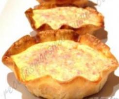 Tartaletas de jamón serrano y queso
