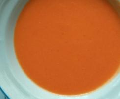 Gazpacho con zanahoria y manzana