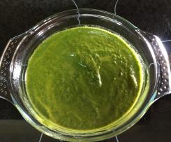 Crema de Espinacas y Zanahorias (Dieta)