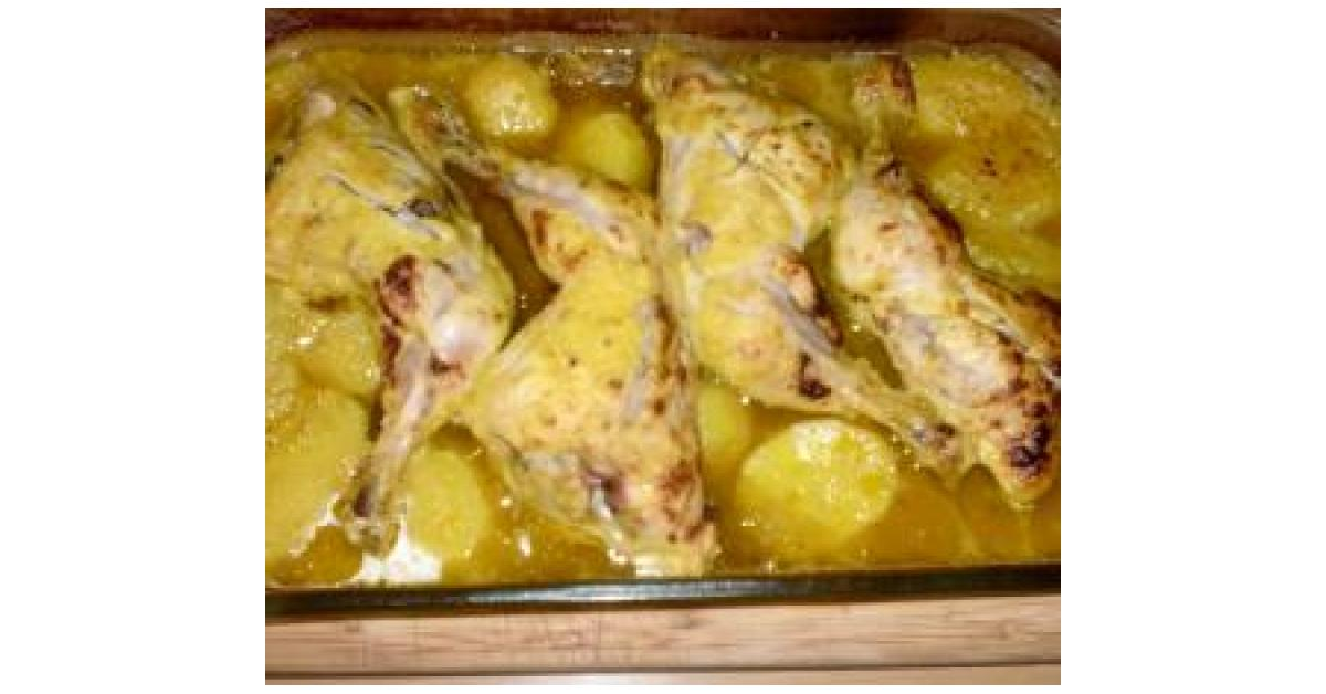 Pollo al horno con patatas por pepalindez la receta de - Pollo al horno con limon y patatas ...
