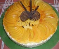 Tarta de queso y melecotón
