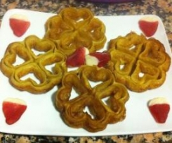 Rosas fritas con miel