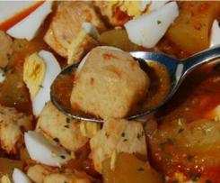 Guiso de pez de espada con patatas
