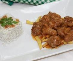 Rabitos de cerdo en salsa de Zafra