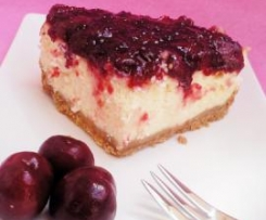 CHEESECAKE CON CEREZAS