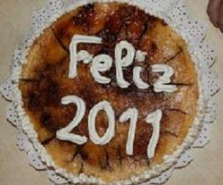 TARTA DE MOUSE DE CHOCOLATE Y YEMA TOSTADA (tarta fin de año)