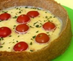 Tarta de queso con tomatitos