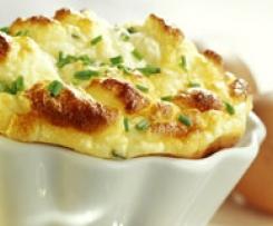 Soufflé de queso gruyére