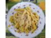 Macarrones con jamón y verduras