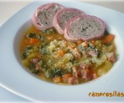 Sopa Minestrone con Polpettone (Italia)