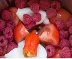Gazpacho de frambuesa