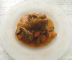 Pavo con salsa y verduras (Receta Ligera)