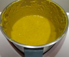 Crema de verduras con curry