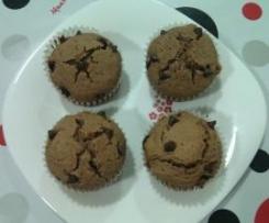 Muffins de chocolate y arándanos rojos