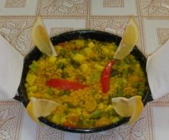 Pasta piñones con verduras