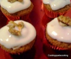 Cupcakes de Zanahorias con glaseado de crema de queso