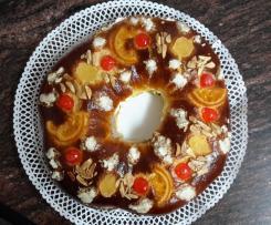 Roscon de Reyes, sin masa madre, de nata y trufa