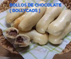 BOLLOS DE LECHE RELLENOS DE CHOCOLATE