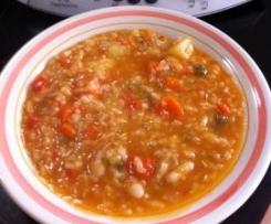 judías blancas con arroz (vegetarianas)