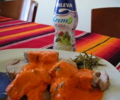 Salsa Paprika sobre solomillos arromerados (a mi manera)