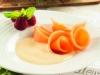 Carpaccio de melón con sabayón de moscatel