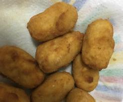 Croquetas de pollo sin gluten y sin lactosa
