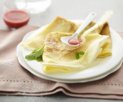 Crêpes con brotes de soja y tofu