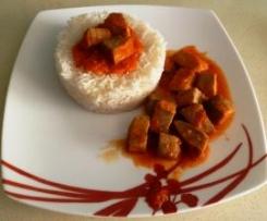 Atún con tomate y arroz blanco (sin lactosa y sin gluten)
