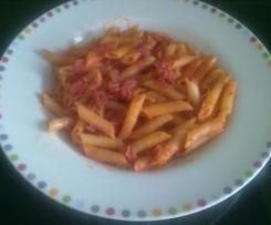 Plumas con tomate y chorizo (1 Persona)