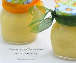 Papilla de fruta para conserva