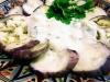 Berenjenas al vapor con salsa de yogurt y especias