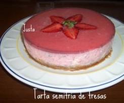 TARTA SEMIFRIO DE FRESAS (pequeña)