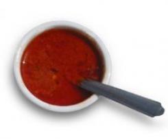 Salsa para barbacoa o parrillada de verduras