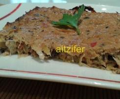 Pastel de hiziki y puerros (vegano)