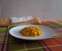 Arroz amarillo con gambas congeladas