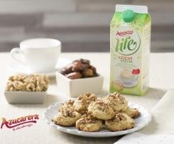 Cookies de dátiles café y nueces con Azucarera® Life