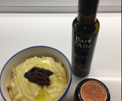 Hummus con Paté de Olivas