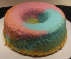 bizcocho tres colores (ANGEL FOOD CAKE)